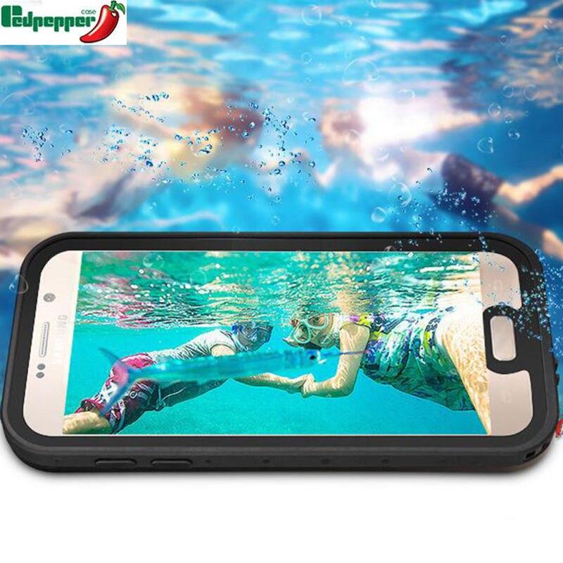imágenes para Original completo sellado impermeable de buceo bajo el agua a prueba de golpes hermética al polvo cubierta mate case para samsung s7 edge note 5 bolsa de natación