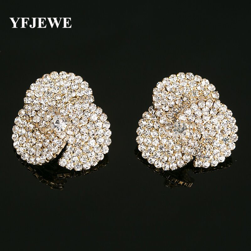 Sale Gold Color Stud Earrings for Women Costume Jewelry Earrings boucle Doreille Femme Crystal Pendientes Mujer Moda #E237