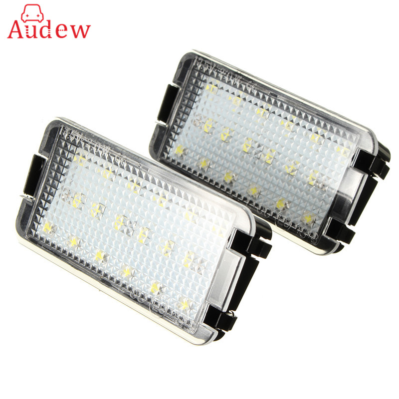 1pair Led Licence Plate Light Number Plate Lamp For Seat