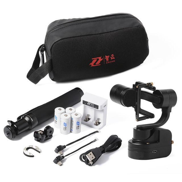 Zhiyun Z1 Rider-M 3-Axle Wearable Camera Gimbal With extension pole and carry-bag for GoPro 3 4  Pk Feiyu WG WG Mini