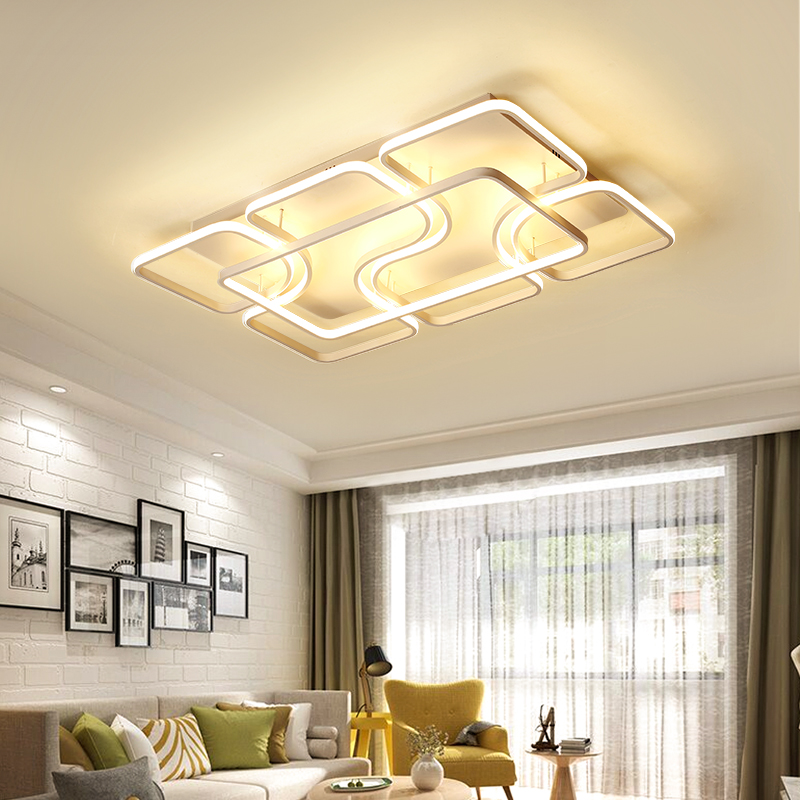 Dimming LED Ceiling Lights post modern style for living room study room decorative lampshade ceiling lamp lamparas de techo simple style ceiling light wooden porch lamp square ceiling lamp modern single head decorative lamp for balcony corridor study