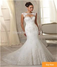Vestido-De-Noiva-2016-Romantic-Mermaid-Wedding-Dresses-Appliques-Beaded-Keyhole-Back-Plus-Size-Wedding-Dress