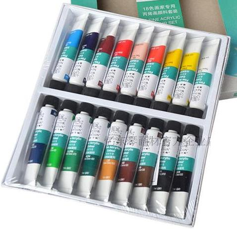 цена на WINSOR&NEWTON 18 colours Acrylic Paints fine painting supplies 10ml/piece