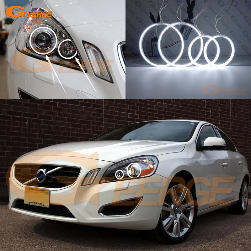 Для Volvo S60 и V60 на 2011 2012 2013 Ксеноновые фары отлично Ангел глаза комплект Ультра-яркое освещение CCFL Ангел глаз