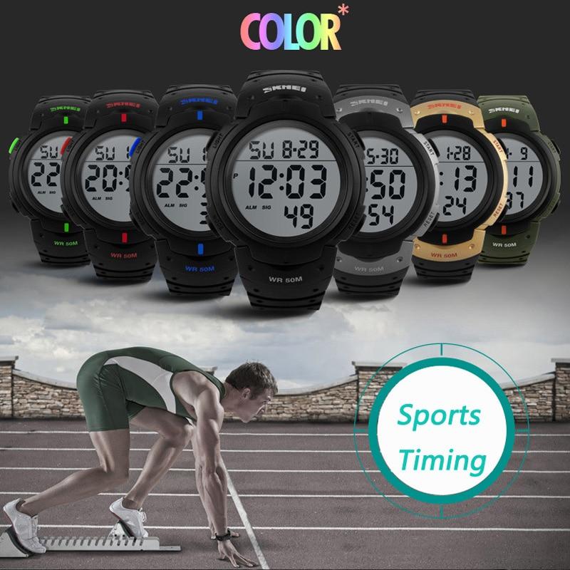 Herrenuhren Uhren Skmei Herren Sport Uhren Top-marke Luxus Dive Digitale Led Military Watch Männer Mode Lässig Elektronik Armbanduhren Uhr Männer