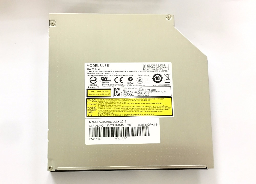 for Matshita UJ8E1 UJ-8E1 Super Multi 8X DVD DL Burner Dual Layer DVD-RAM 24X CD-R Writer Laptop 12.7mm SATA Optical Drive Case 1