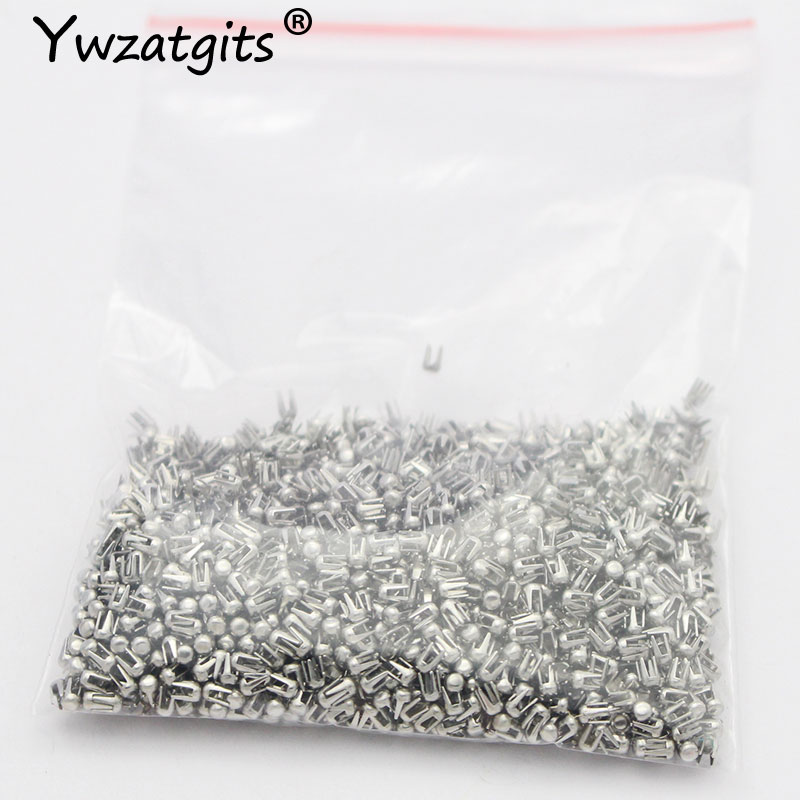 500 Pcs/lot 3*2.3mm Silver Spikes Rivets Four Claw Nail Metal DIY For Clothing Garment Nailed Beads Machine Accessories YJ0210