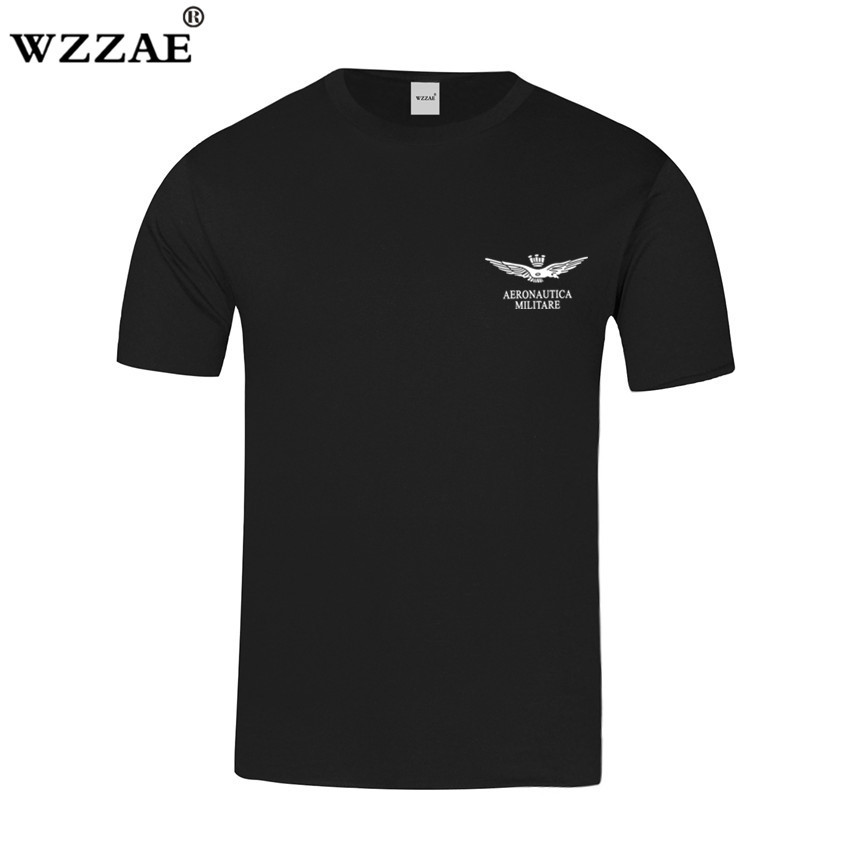 New Arrive 2018 Summer Men's 100% Cotton Air Force One   T  -  shirt   Brand Aeronautica Militare Men   T     shirts   Men Military Tshirt