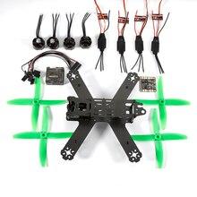 New Brand Mini Quadcopter Support various airframe FPV DIY 210 Mini Drone Carbon Fiber frame set w/ 2204 2300kv MRRC 12A RC ESC