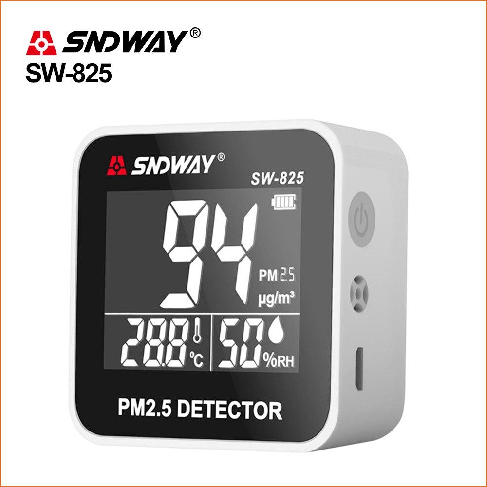 Monitor de calidad del aire SNDWAY PM 2,5, Detector PM2.5, minimedidor de temperatura recargable, Detector de Gas Analizador de temperatura Etmakit, gran calidad, chasis de escritorio, lector de tarjetas integrado, lector de tarjetas multifunción de 3,5 pulgadas