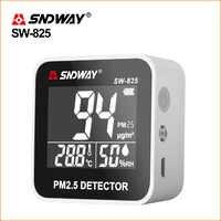 SNDWAY PM 2,5 монитор качества воздуха PM2.5 детектор перезаряжаемый мини-измеритель температуры анализатор туманообразного газа детектор газа
