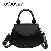 TOYOOSKY 2019 New Fashion Show Women's Shoulder Bag Famous Designer Saddle Bag Handbag For Women PU Leather Messenger Bags