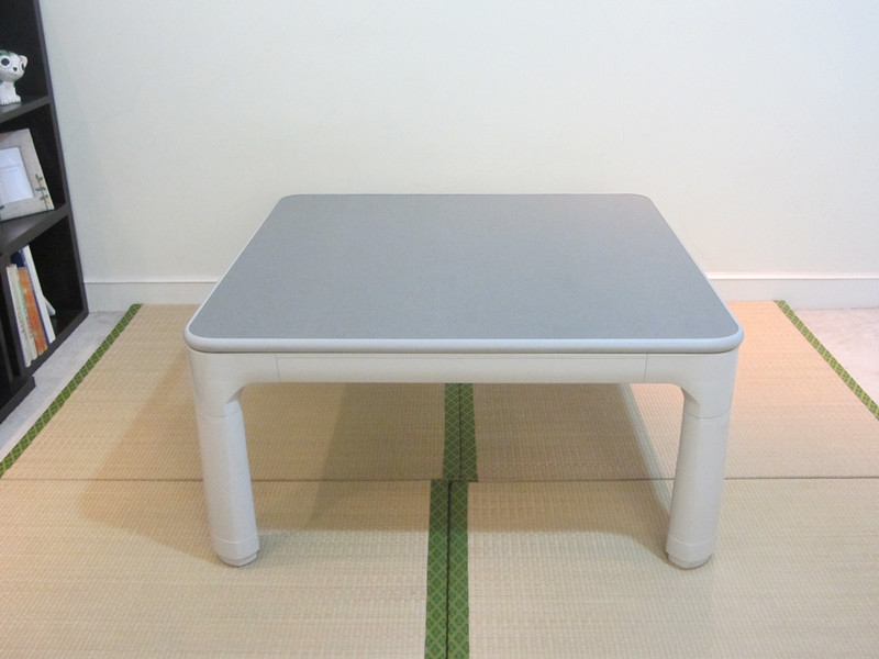 Japanese Kotatsu Furniture Legs Folding Reversible Top White/gray Small  Square 75cm For 1