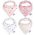 AINAAN Baby Bibs Cotton Babador Towel 4pcs/Lot  Bandana Bavoir For Baby Girl & Baby Boy Bib Baby Scarf  Slabbetjes