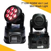 7 * 10W LED Mini Wash Moving Head Light RGBW 4in1 Led Washer Mini Moving Head Wash Light