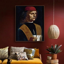 Portraits of Musicians Oil Painting By Vinci Canvas Printings Art Home Decor Wall Picture for Living Room Church