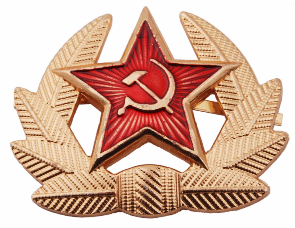 USSR SOVIET RUSSIAN MILITARY M1955 METAL HAT BADGE COCKADE