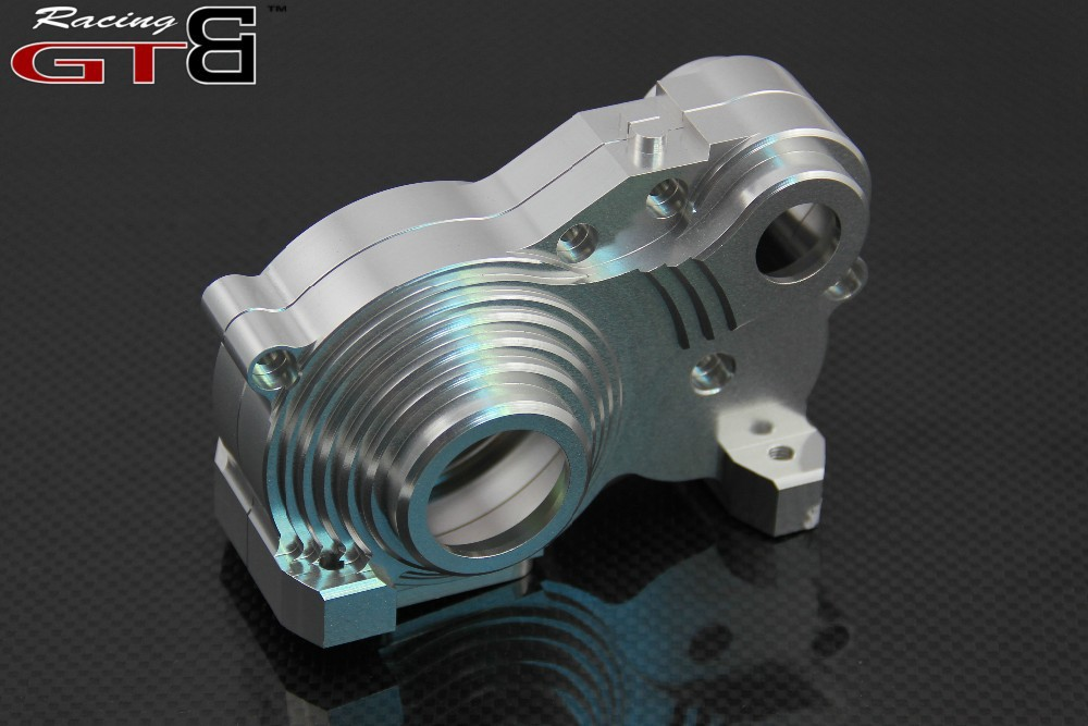 GTBRacing Metal Gear Box FOR hpi km rv baja 5b ss 5t 5sc GR020 gtbracing gtx5 body shell transparent and silver color for hpi km rv baja 5b ss gy009