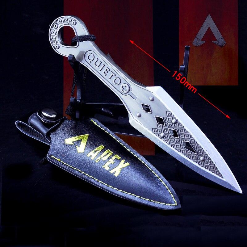 Schlüssel Ring APEX Legends Spiel Schlüssel Kette Bösen Geist Dolch Keyring Modell Keychain Schlacht Royale Kinder Geschenke