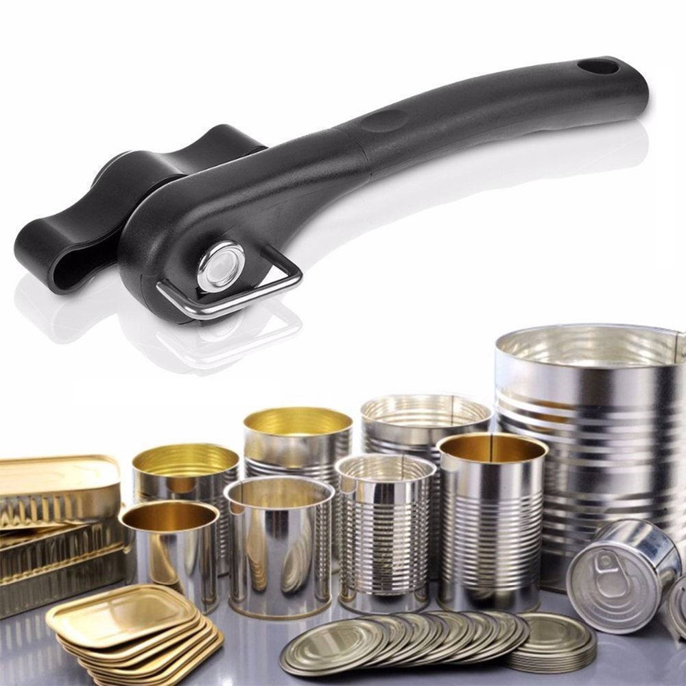 Smooth Edge Can Openers Effortless Professional Ergonomic Manual Handy Stainless Steel Cans Opener Easy Turn Knob