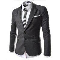 עיצוב חדש שמלת Mens עסקי שני כפתורי מקטורן חליפה בכושר רזה גברים צבעים טהורים חליפות ליזר אחת חזה מותאם אישית