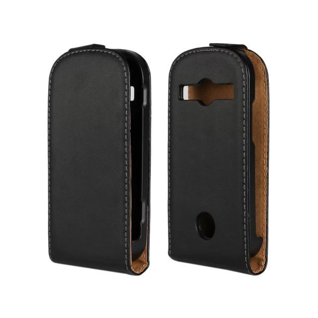 Luxury Genuine Real Leather Case Flip Cover Mobile Phone Accessories Bag Retro Vertical For Samsung Galaxy Xcover 2 S7710 PS