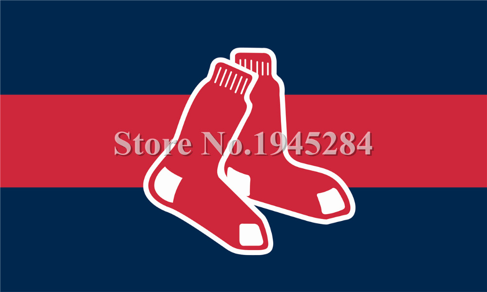 MLB Boston Red Sox Flag New 3x5ft 90x150cm 100D Polyester Flag Banner 7100, free shipping