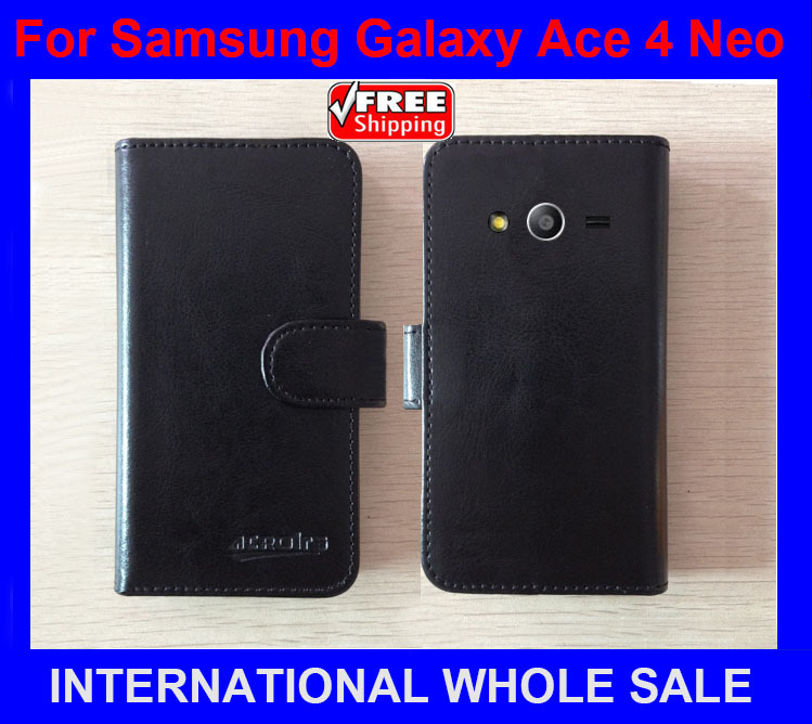 High Quality New Original case for <font><b>Samsung</b></font> Leather Case Flip Cover for <font><b>Samsung</b></font> <font><b>Galaxy</b></font> <font><b>Ace</b></font> <font><b>4</b></font> <font><b>Neo</b></font> <font><b>SM</b></font>-<font><b>G318H</b></font> Case+tracking number image
