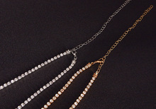 Gold/Silver Color Crystal Sexy Women's Belly Waist Chain
