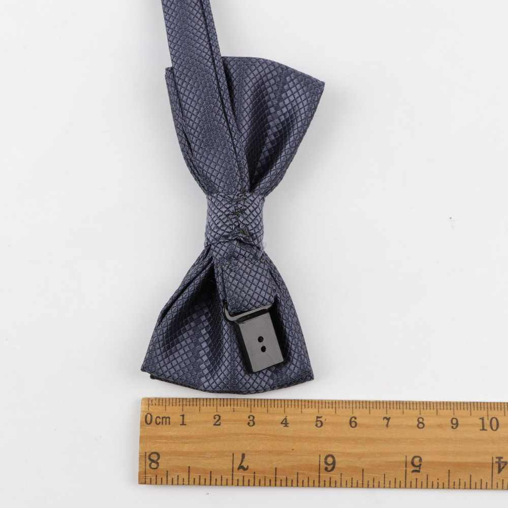 Anak-anak Polyester Dasi Kupu-kupu Klasik Padat Warna Kupu-kupu Pernikahan Pesta Dasi Anak Suit Tuxedo Dicky PET Bow Tie