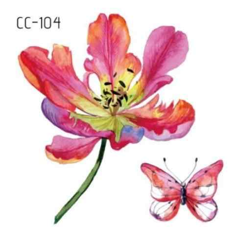 Temporary Tatoo Fake Tattoo Sticker Flower Butterfly Small fresh Waterproof Flash Tatto Tatouage Temporaire For Girl Women Kids