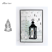 JCarter Snowy Pine Tree Metal Cutting Dies for Scrapbooking DIY Album Embossing Folder Card Photo Template Background Stencil