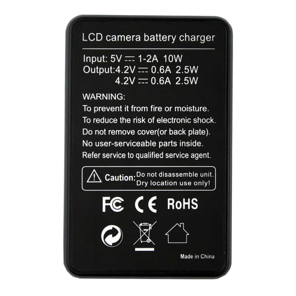 4 шт. Камера SJ4000 SJ5000 Батарея + двойной ЖК-дисплей USB Зарядное устройство для спортивной экшн-камеры SJCAM SJ5000X SJ6000 SJ7000 SJ 4000 Wi-Fi M10 eken 4 K H8 H9