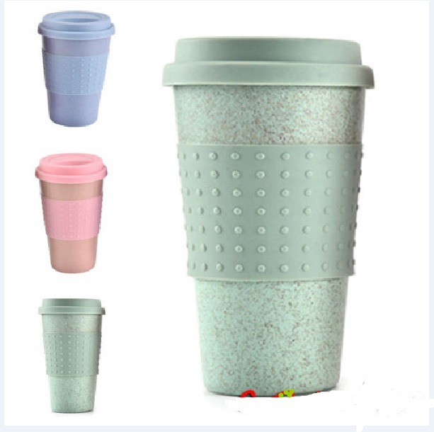 Wheat Straw Mark Cup Reusable Bamboo Fibre Ecoffee Cups Eco Friendly Travel Coffee Mugs Eco-friendly Healthy High Quality cup