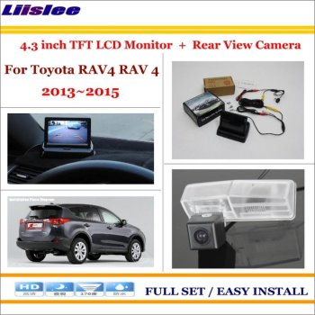 Auto Camera For Toyota RAV4 RAV 4 2013-2015 Car 4.3 LCD Monitor Screen Auto Rearview Camera Back Up Parking Assistance System image