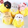 New Banana Cat Plush Doll Bananya Anime Toy Animal Bonecas 9cm Plushie Keychain Baby Dolls Kids Birthday Gift Brinquedos