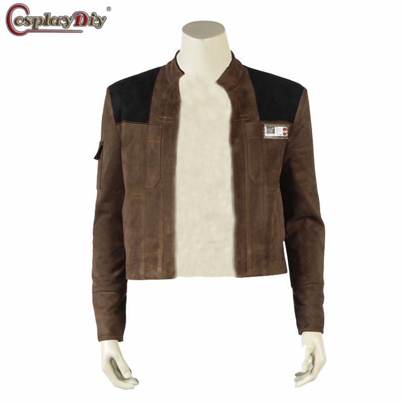 Cosplaydiy Han Solo veste Halloween Cosplay Solo A Star Wars Story Han Solo super-héros Costume homme manteau hauts sur mesure unisexe