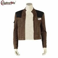 Cosplaydiy Han Solo Jacket Halloween Cosplay Solo A Star Wars Story Han Solo Superhero Costume Man Coat Tops Custom Made unisex
