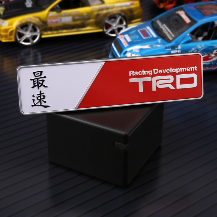 ABS Car Sticker Free Shipping  New Design TRD Racing - Custom design car decals free