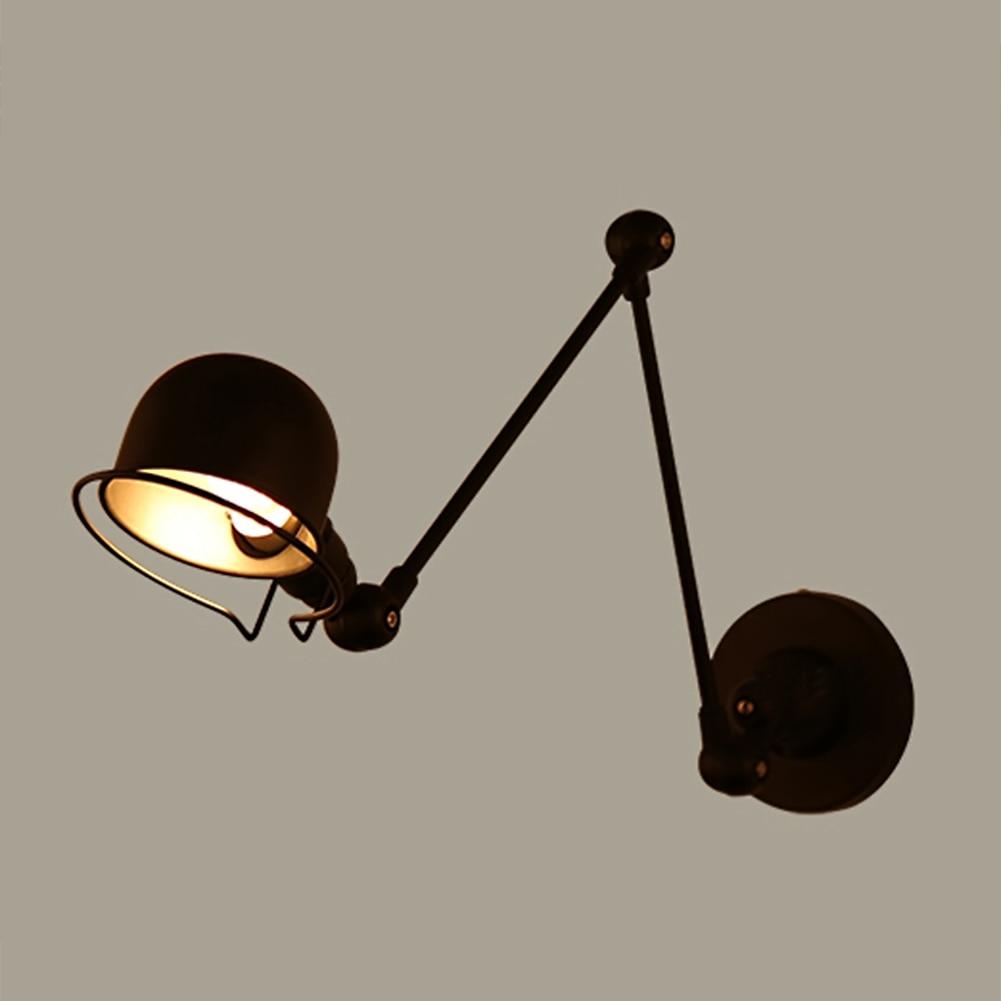 Loft Industrial adjustable long swing arm Wall lamp Fixture Vintage Edison bulb wandlamp lamparas de pared lights lampen sconce loft retro industrial two section swing arm metal wall lamp fixture wandlamp industrieel lampara de pared espejos bano
