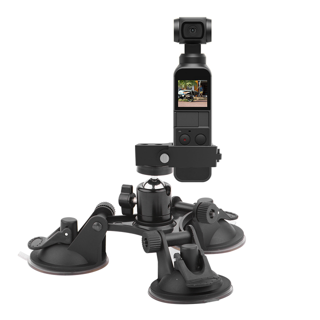 Suction Cup Car Mount for DJI OSMO Pocket/Pocket 2 Vehicle Window Holder with Expansion Module 1/4 Inch Interface Accessory