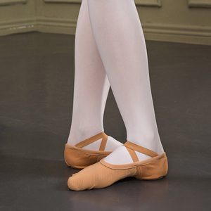 Image 3 - Sansha Adult Ballet Shoes 4 way Stretch Mesh 3 Split sole Design  Ballet Slippers Pink Black Dance Shoes NO.357M/NO.357X