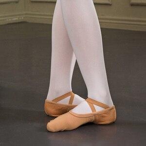 Image 3 - Zapatos de Ballet para adultos Sansha malla elástica de 4 vías 3 zapatillas de Ballet de diseño de suela dividida para niñas y hombres zapatillas de Ballet rosa /zapatos de baile negros NO.357M
