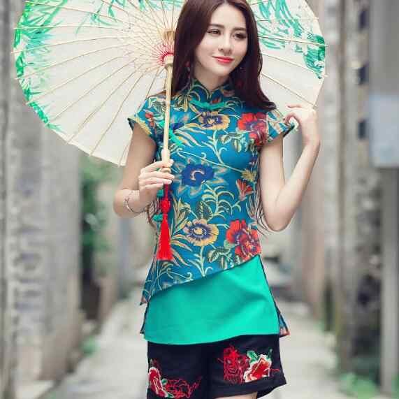 8531b5c4 Ropa 2018 de las mujeres de la vendimia étnica tradicional China diseñador  original 2xl verde rojo