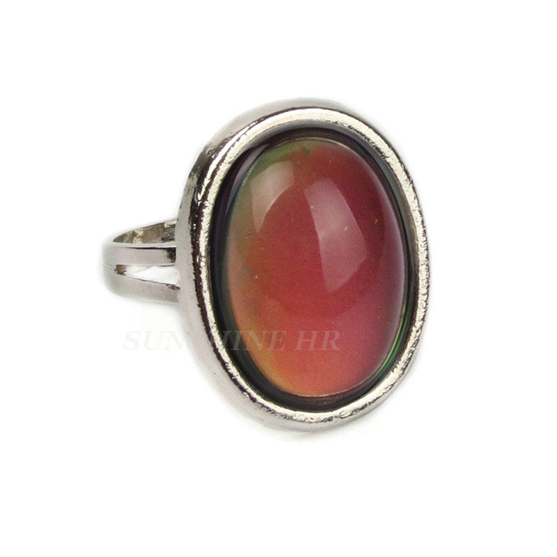 2018 Fine Jewelry Mood Ring Temperature Changing Color Feeling Ring Party Supplies Emotion Creative Gift