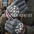 Venda quente de Inverno luvas de Dedos Completos Luvas de Malha Mais Lã, espessa e Quente em Clima de Neve Para Mulheres Dos Homens