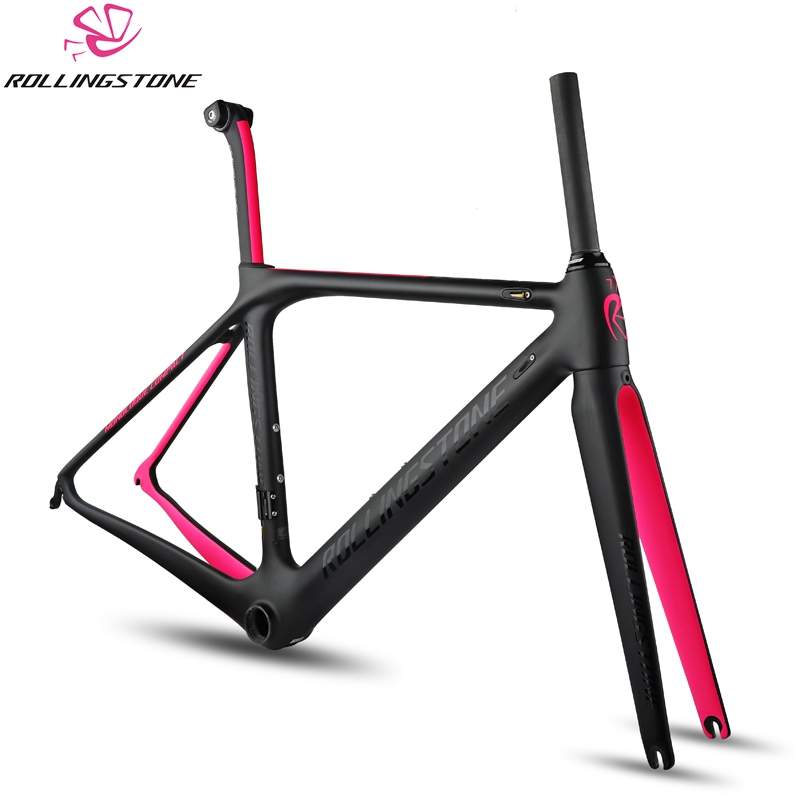Rolling Stone Compass Road Carbon Frame W/handle Bar, Stem, Seat Post For Aero/Climbing 45cm 47 50cm