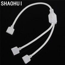 1 шт. просты в установке LEDstrip разъем 1 до 2 разъем с 4PIN женский порт для 3528/5050 RGB Светодиодные полосы света