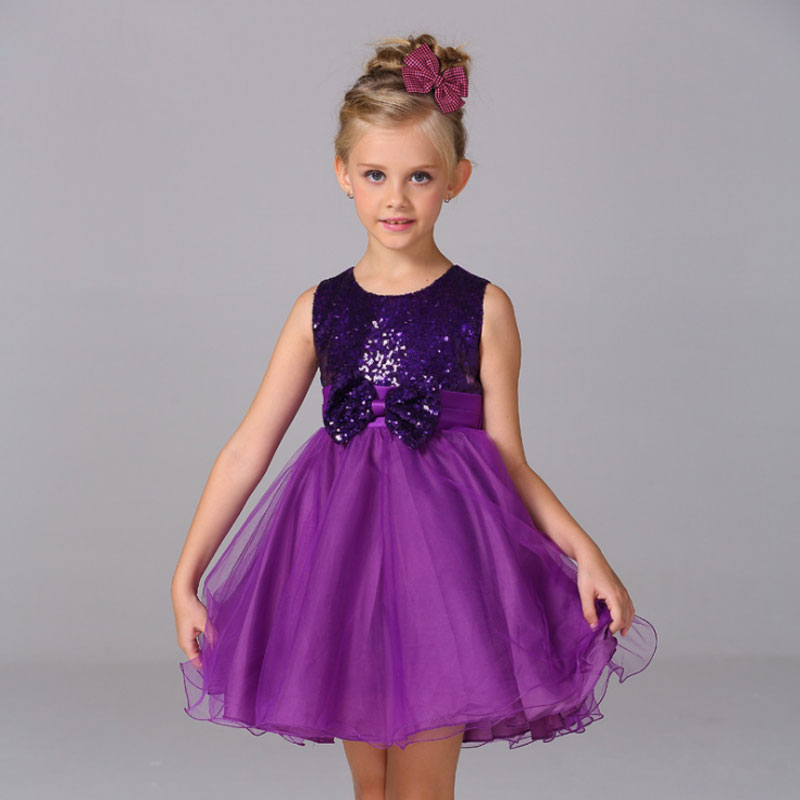где купить Girls Dress Wedding Princess Sequins Girl Party Dress Summer 2018 Birthday Dresses Sleeveless Children clothes 2 3 4 5 6 7 8Yeas по лучшей цене