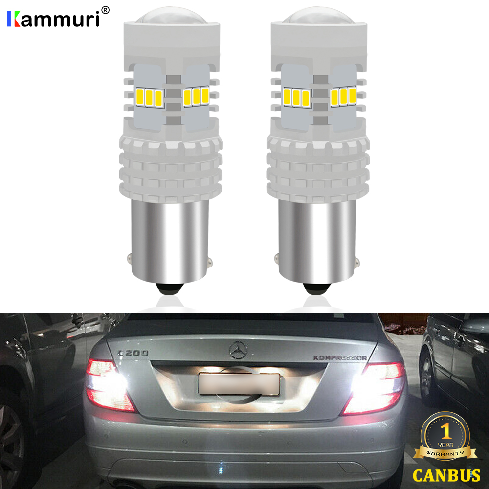 CANbus White P21W LED Car Reverse Backup Light For Mercedes C Class <font><b>W203</b></font> C180 C200 C220 C230 C240 <font><b>C270</b></font> C280 C300 C320 C350 00-07 image